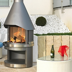 Garten-Grills  Gas + Holzkohle