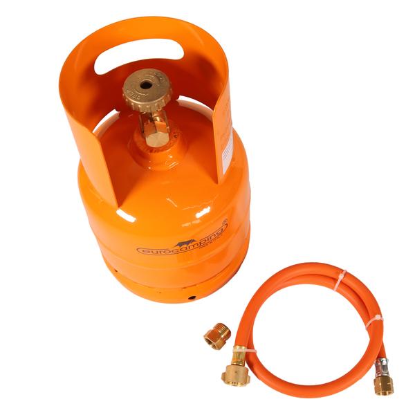 set leere orange bef llbare gasflasche 1 kg propan butan. Black Bedroom Furniture Sets. Home Design Ideas