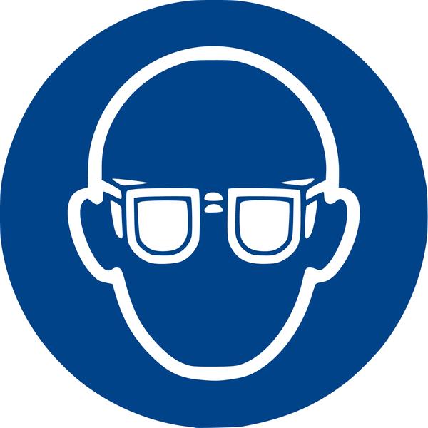 Aufkleber Gehör Augenschutz benutzen 10cm 21.0642 u