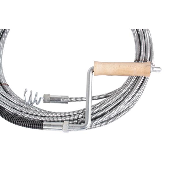 profi rohrreinigungsspirale 10 mm 15 m lang mit auswechselbarem tric. Black Bedroom Furniture Sets. Home Design Ideas