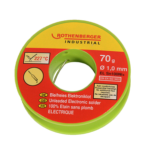 Bleifreies Elektroniklot Ø 1,0 mm/70 g ROTHENBERGER Industrial