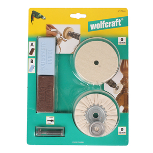 Wolfcraft Hobby Polierset 4tlg.