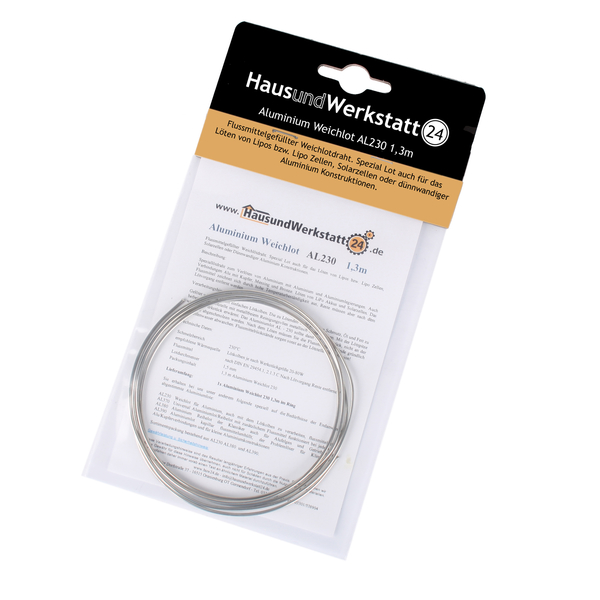 Aluminiumlot Weichlot Al230 1 3 M Flussmittelgefullt Bleifrei