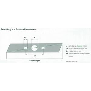 GARDINGER Rasenmäher Ersatzmesser für WOLF Garten Vi 34 FM 4904-096  4904400