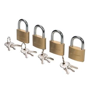 Silverline Messing-Vorhängeschloss 3 Schlüssel