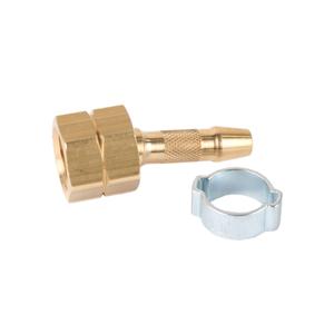 """Schlauchtülle 6 mm Schlauchanschluss 1//4/"""" links Überwurfmutter Zweiohrklemme"""